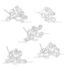 ice hockey winter sport vector image