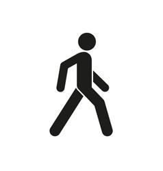 icon a walking person vector image