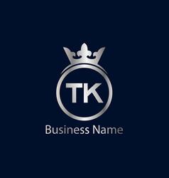 Initial letter tk logo template design vector