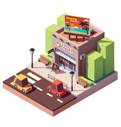 Isometric travel agency vector