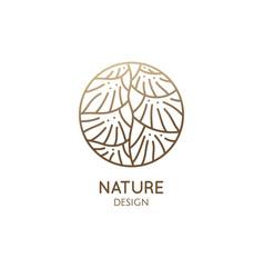 Leaf ladder linear logo geometricshapes plant vector