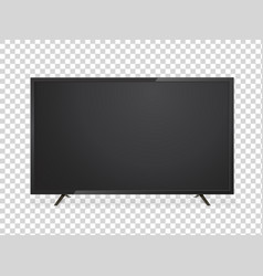 led or lcd tv screen realistic display vector image
