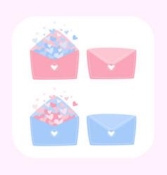 letter love set letter love heart vector image