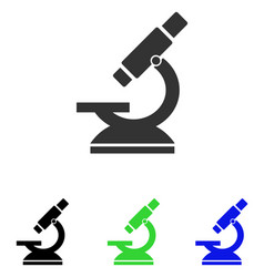 Microscope flat icon vector