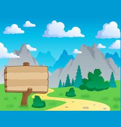 mountain theme landscape 2 vector image