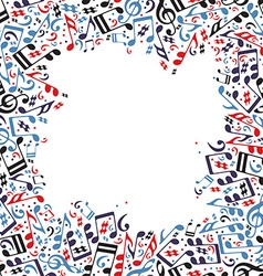 Music frame made with notes vector