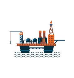 oil factory platform on water vector image