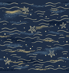 pattern in navy style for textile or background vector image