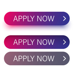 pink and purple apply now buttons isolated on vector image