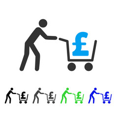 Pound cash out flat icon vector