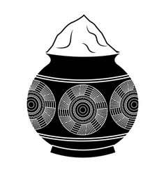 powder mud pot and mandala vector image
