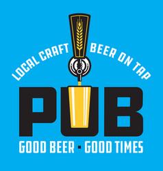 pub craft beer design vector image