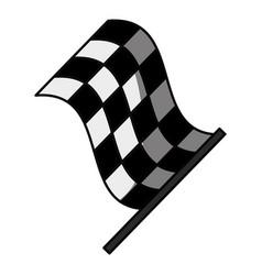 Racing flas isolated vector