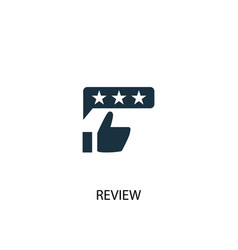 Review icon simple element vector
