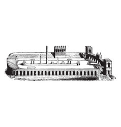 Roman aqueduct most characteristic features of vector