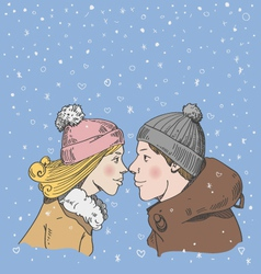 Romantic couple vector