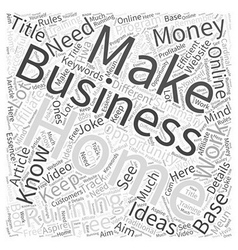 Running a Home Business What You Need To Do Word vector