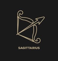 Sagittarius horoscope icon vector