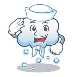 sailor snow cloud character cartoon vector image