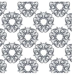 Seamless textute vintage decorative ornate design vector