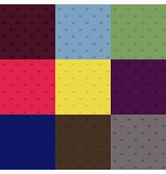 Set of seamless polka dot patterns vector image