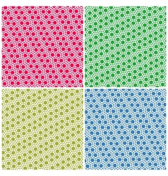 Set of simple colorful seamless patterns dots vector image