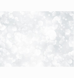 silver bokeh shining background vector image
