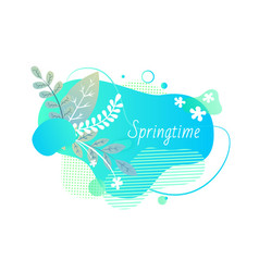 springtime abstract design banner with foliage vector image