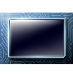 square button with text on chips background vector image