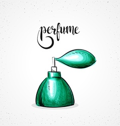 Stylish colored hipster fashion perfume handmade vector image
