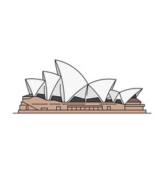 Sydney opera house icon vector