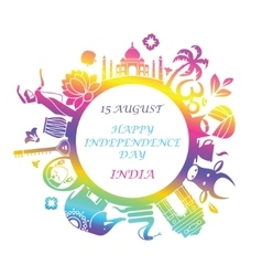 Symbol of independence day of India vector image