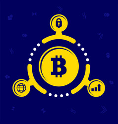 the advantages of cryptocurrency in vector image