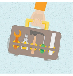 Tool box set in flat design vector