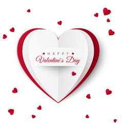 valentine greeting card with inscription happy vector image