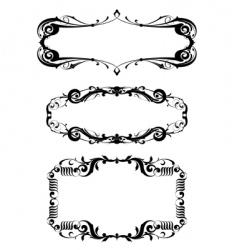 Victorian frame set vector