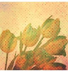 Vintage tulip wallpaper pattern EPS 10 vector