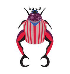 Weird exotic bug icon in flat design vector