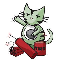 big bang kitty vector image vector image