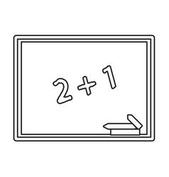 chalkboard class school chalk thin line vector image
