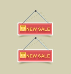 Long Shadow Sale Style vector image