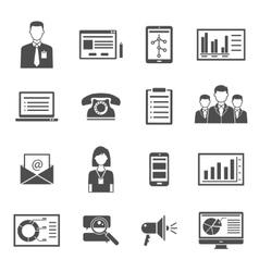 Marketing Black Icons vector image