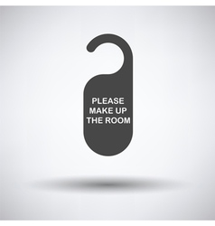 Mke up room tag icon vector image vector image