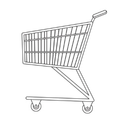 Shopping carts icon line sketch doodle style vector image vector image