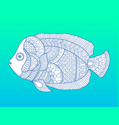 angel fish color fashion vector image