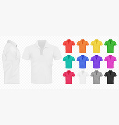 black white and other basic color men t-shirts vector image vector image