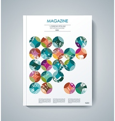 design of Magazine Cover Annual Report Flyer vector image vector image