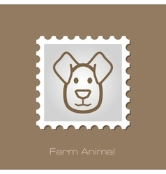 Dog stamp Animal head vector image