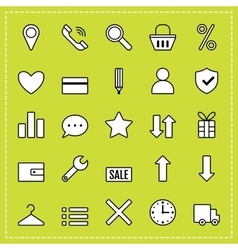 Icons e-commerce flat objects shopping symbols vector