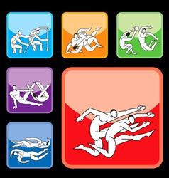 sport buttons set03 vector image
